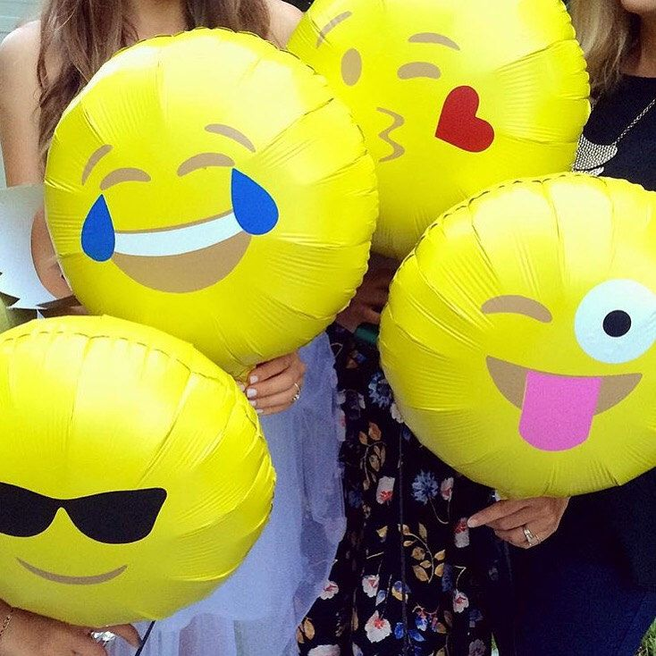 28 Best Images About DIY: Emoji Balloons On Pinterest