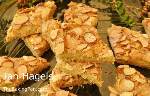 Jan Hagels are crunchy cinnamon and almond flavored Dutch cookies that are irresistible. - See more at: http://thebakingpan.com/recipes/cookie/jan-hagels/#.VG5e9smrmZQJan Hagel Cookies Recipe   TheBakingPan.com