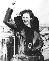 Amy Johnson - 1930s aviator After becoming the first woman to fly solo from Britain to Australia in 1930, the pioneering aviator went on to set a slew of long-distance flying records. She died after going off-course in bad weather while transporting RAF aircraft around the country for the Air Transport Auxiliary during the Second World War
