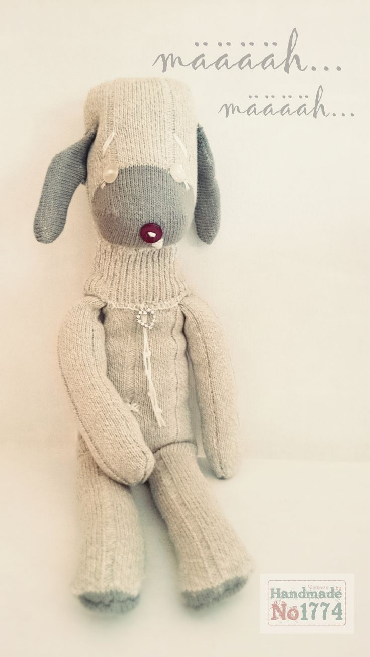 socks animal - Sockentier - Socke - Kuscheltier - Schaf - Kind - Baby - Handmade - sheep - Schäfchen zählen - Schlaf - Traum - Rasenmäher