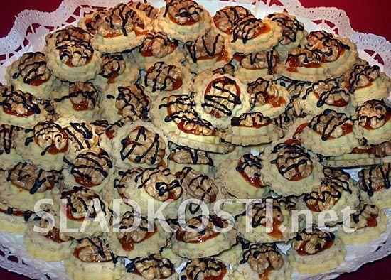 Ořechové slepenky s marmeládou dia