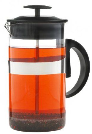 Grosche Zurich 1000 ml French Press Coffee Maker (8 cup or about 3 coffee mugs) Coffee and Tea Press; Borosilicate heatproof Glass http://french-press-coffeemaker.blogspot.com #frenchpresscoffeemaker #coffee