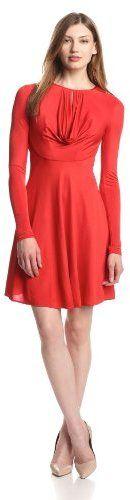 BCBGMAXAZRIA Women's Sam Drape-Front Jersey Dress