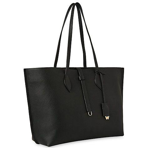 Buy Whistles Regent Soft Tote Bag, Black Online at johnlewis.com