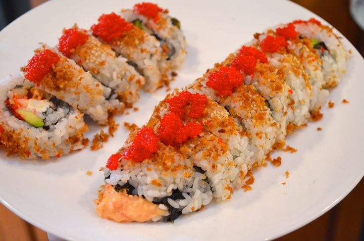 homemade spicy crab roll. Yay!