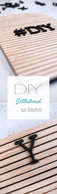 Do it yourself: Letterboard aus Holz im Skandilook selbst basteln – Personello – DIY Ideen: Geschenke, Deko, Basteln & Selbermachen