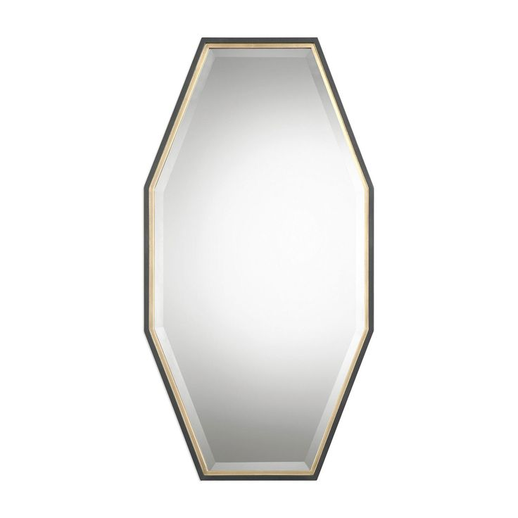 Savion Gold Octagon Mirror Uttermost Wall Mirror Mirrors Home Decor