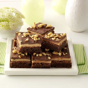 Cookie Dough Brownies Recipe from Taste of Home -- shared by Wendy Bailey of Elida, Ohio
