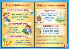 Плакат - Рід/число іменників (29-00-17)