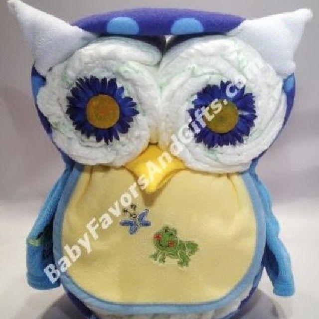 Owl diaper cake, unique baby shower gifs ideas from BabyFavorsAndGifts.com #uniquediapercakes #uniquebabyshowergifts #OwlDiaperCake #diapercake #diapercakes  #diapers #pampers #babyshower #babyshoeergifts by BabyFavorsAndGifts.com, via Flickr