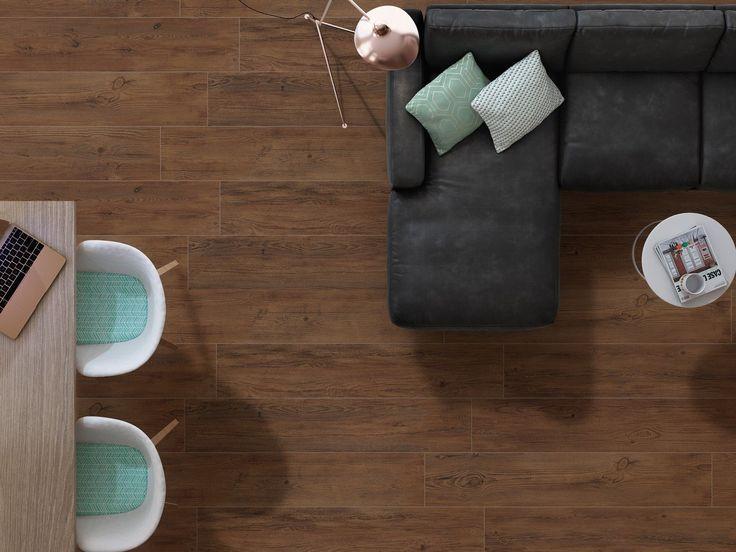 Caoba Dark Wood Effect Porcelain Floor Tile, Huge Choice Of Wood Effect Floor Tiles at Great Internet Prices