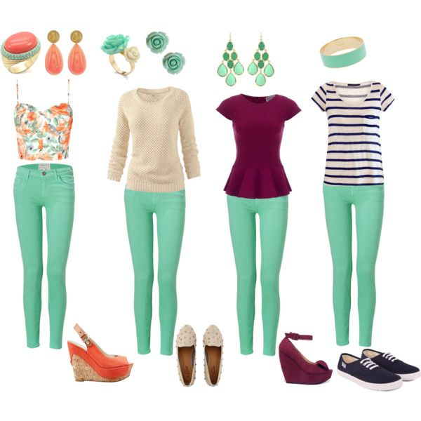 How to wear mint jeans  da005d345