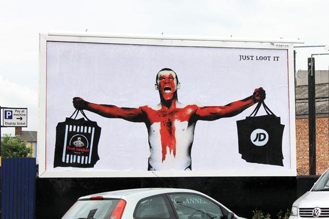 Brandalism: parodies a Nike ad featuring Wayne Rooney