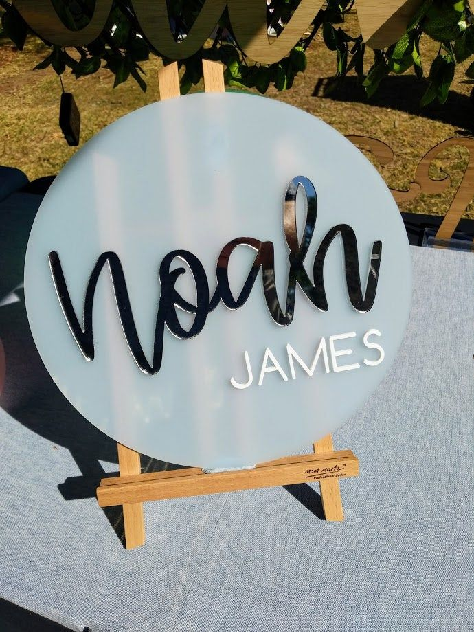Personalised Round Name Wall Plaque