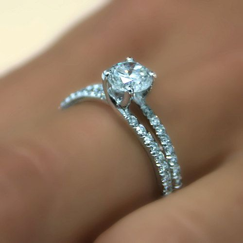 Le diamant bague de fiançailles paramètres 14k White par ldiamonds