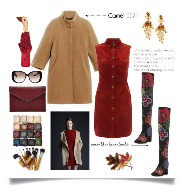 """""""red _ camel"""" by marina-kar ❤ liked on Polyvore featuring Laurence Dacade, Max&Co., New Look, Rebecca Minkoff, Gucci, Anne Klein, Topshop, Oscar de la Renta, Boots and camelcoat"""