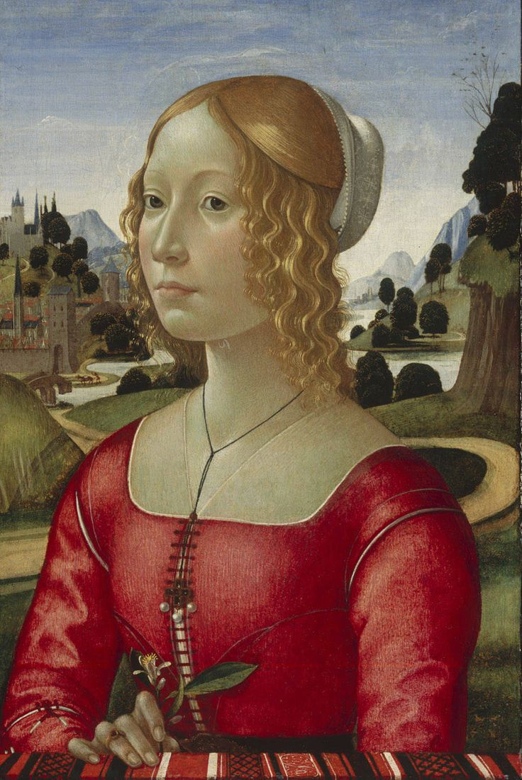 Portrait of a Lady  Domenico Ghirlandaio 1449 – 11 January 1494) was an Italian Renaissance painter from Florence. Among his many apprentices was Michelangelo.