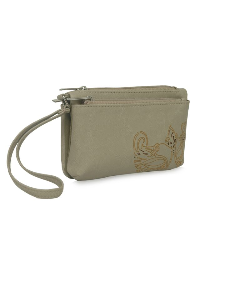 MP Daisy Bindas Beige - An accentuated beige pouch by Baggit