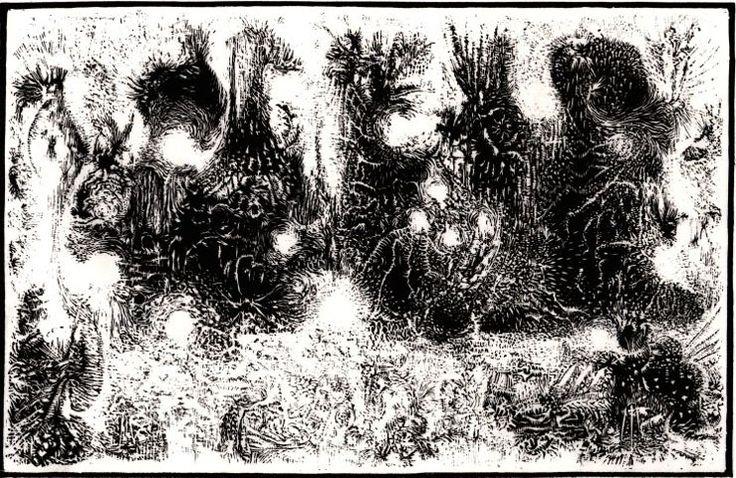 Gielniak, józef - Improwizacja (Na temat stworzenia swiata), 1958, linoryt, bibułka chińska