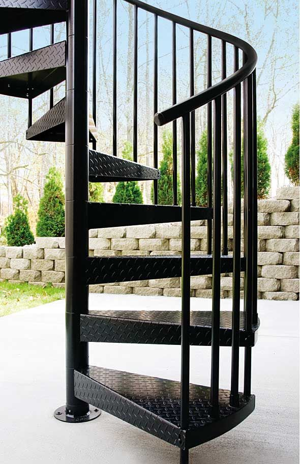 This is what DL wants!  Aluminum Spiral Stairs | Spiral Staircases | Salterspiralstair.com