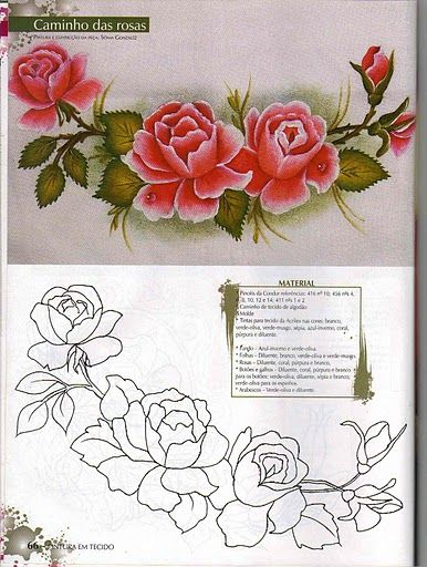 20 best images about flores para pintar on pinterest - Rosas para pintar ...
