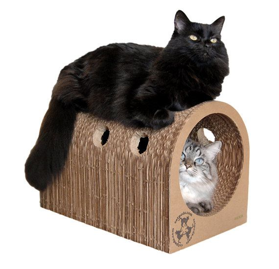 Incroyable Original Catpods   Ecofriendly Modern Cardboard Cat Scratcher House Pet  Furniture   Unique Great Gift For Pets Lovers