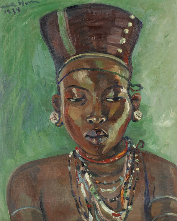 Zulu Girl, painted in 1935 at the height of Stern's creative powers sold for £457,250. This image is an iconic one of African womanhood from one of South Africa's leading tribal groups.