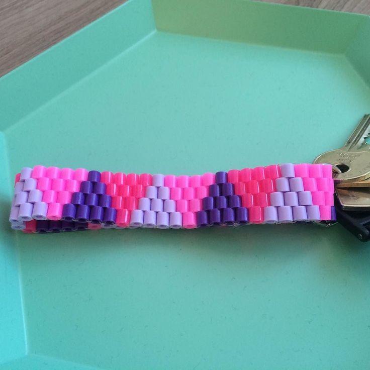 Prøver nye ting! #nøglesnor #nabbibeads #beads #perler #diy #krea #grenediy…