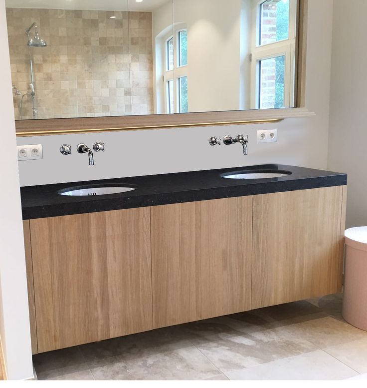 strak landelijke badkamer - www.badwinkel.be