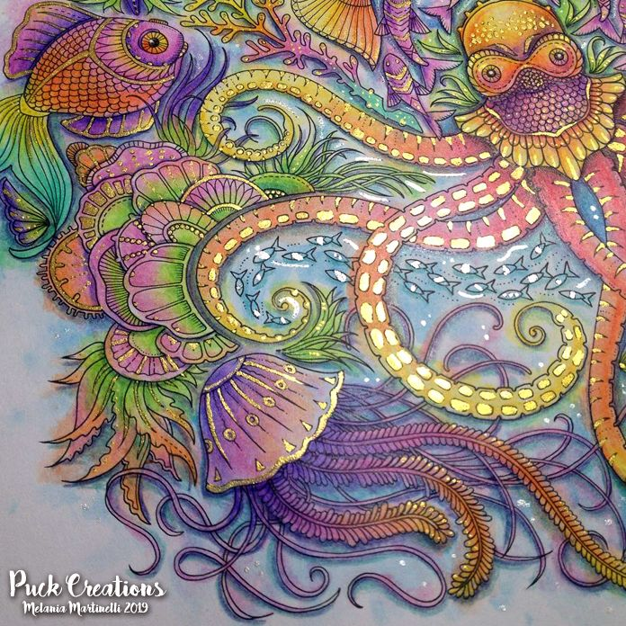 Lost Ocean Coloring Book By Johanna Basford Johannabasford Lostocean Lost Ocean Coloring Book Johanna Basford Coloring Book Joanna Basford Coloring Books