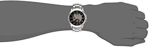 Fossil Men's ME3055 Grant Three-Hand Automatic Stainless Steel Watch – Silver-Tone  Theres nothing quite like our one-of-a-kind Grant. Designed with a new three-hand automatic movement, exposed dial and sleek steel band, this wrist essential balances the streamlined appeal of a dress watch with masculine details for an all-around timeless look. Automatic movement Automatic movement 5 ATM Automatic movement Automatic movement 5 ATM 11 year limited warranty Automatic movement Automatic..