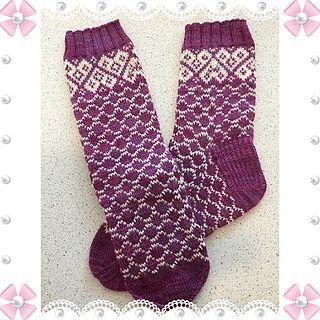 Damesokker i tynt sokkegarn.