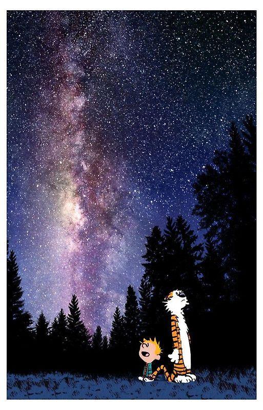 Sky Night Calvin And Hobbes