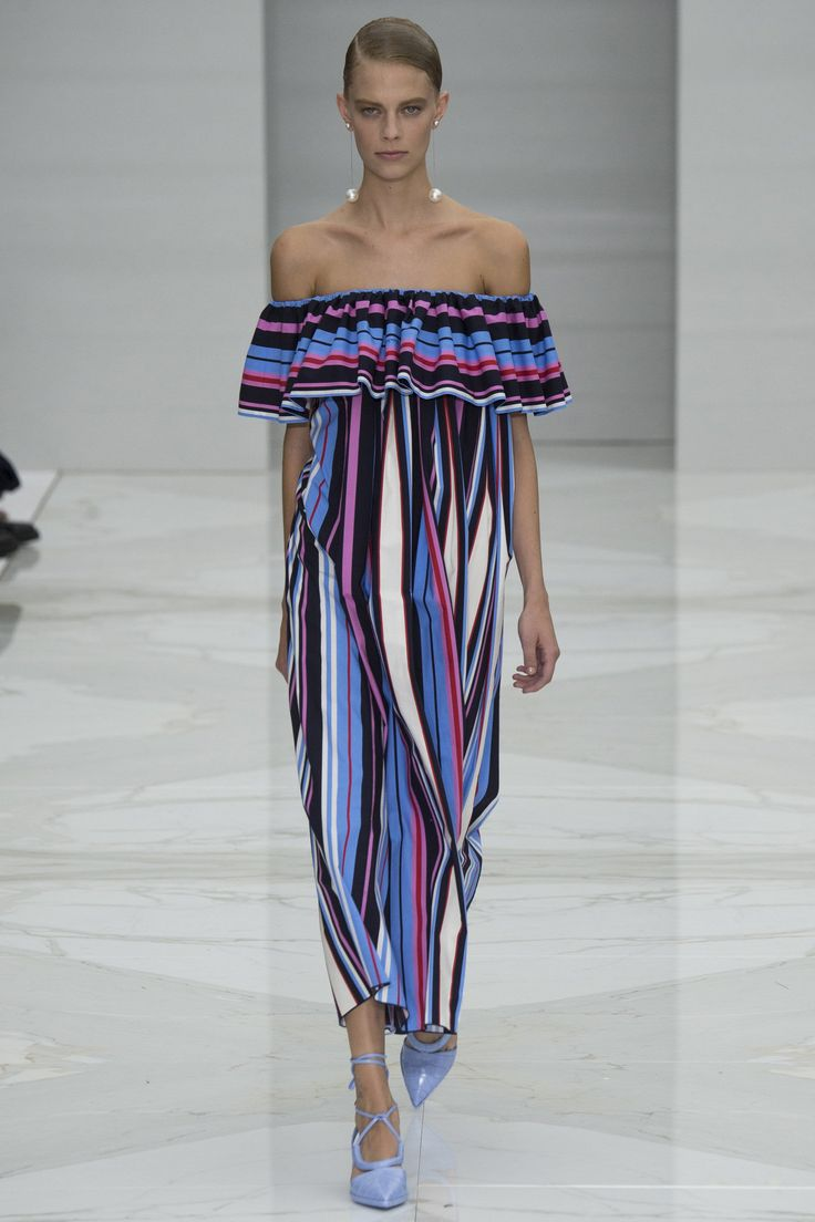 Salvatore Ferragamo / Spring 2016 Trends / Horizontal or vertical, thick or thin, many-hued or monochromatic, stripes emerged from the fray of Spring prints as a clear victor on catwalks.