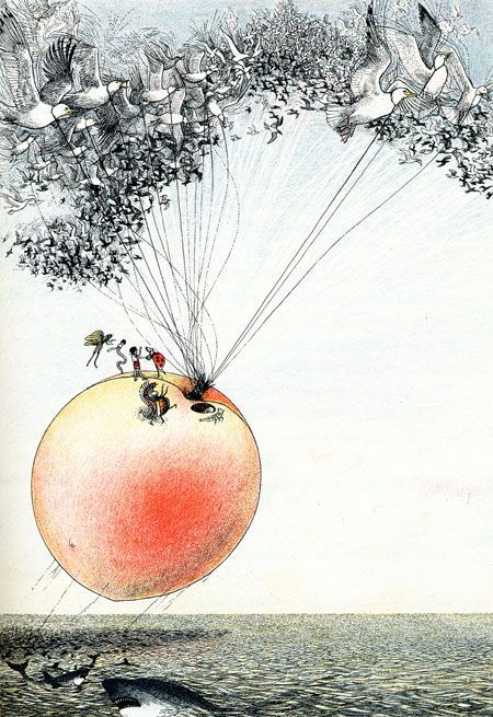 the imagination. the creation. the celebration of fantasy... a favorite, james and the giant peach