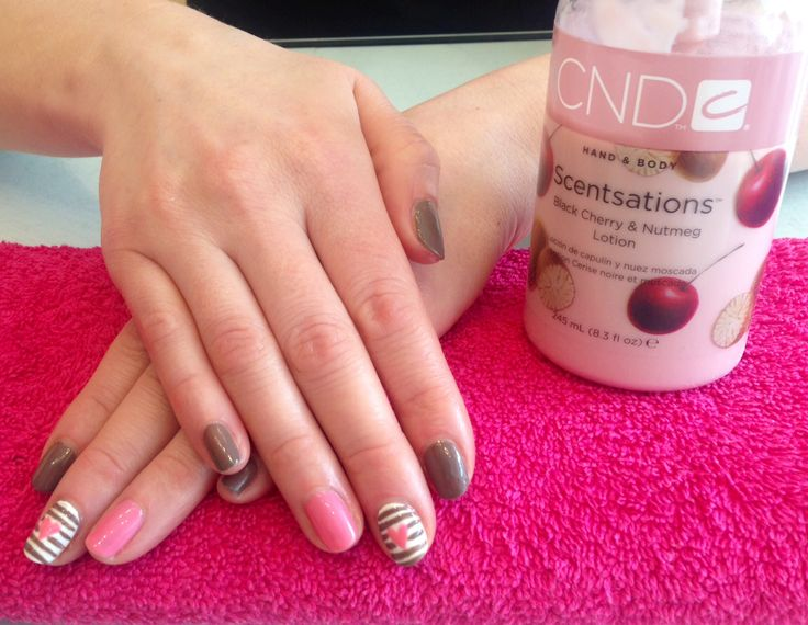 Nail art rose buds : Rubble rose bud and cream puff nail art shellac cnd