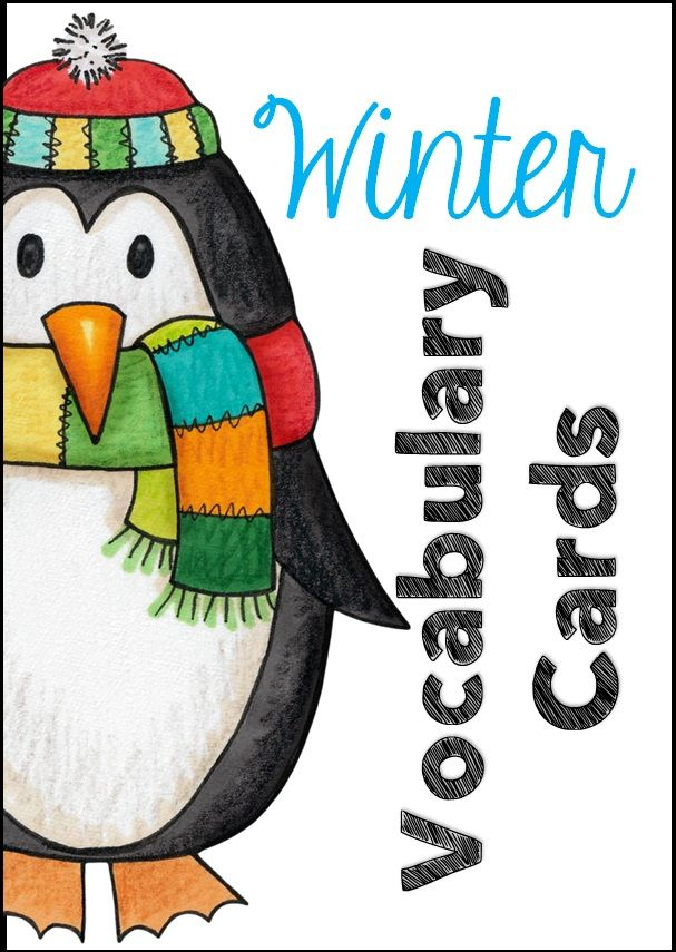 This file includes 28 Winter themed vocabulary cards with large images and text to match, vocab charts (smaller images), vocab game and four record sheets. $