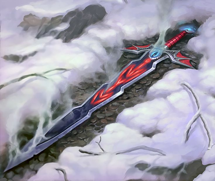 Épée draconiques détenu par la maître draconiques reptilienne humanoïde de feu sur les îles draconiques.
