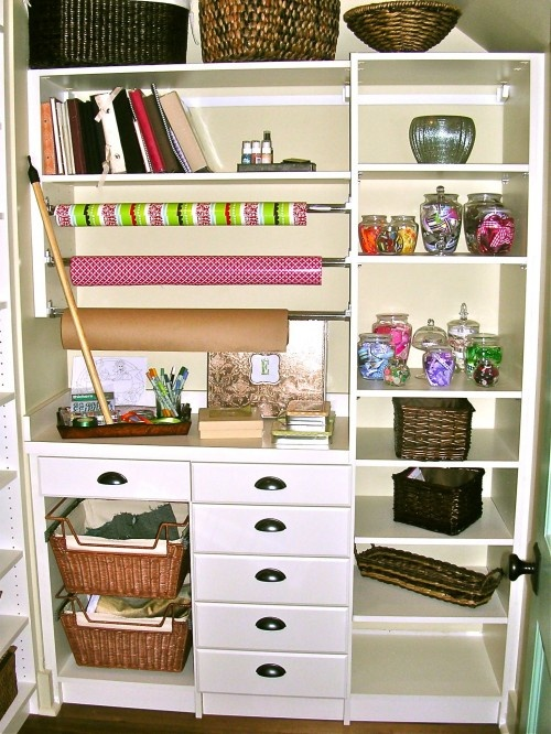Old Armoire: Closet Offices, Wrapping Papers, Becky Harris, Closets, Room Ideas, Photo, Home Offices, Craft Rooms, Crafts