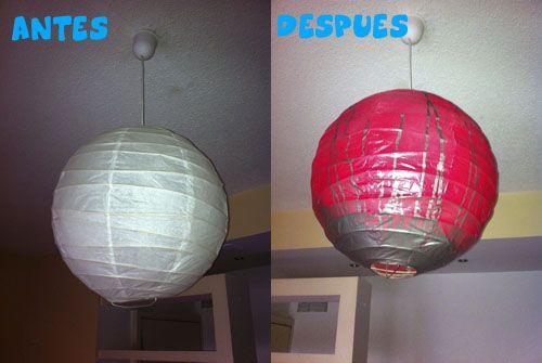 una l mpara globo de ikea tuneada accesorios y ForLampara Globo Ikea