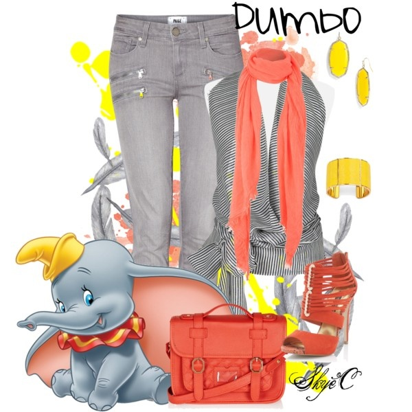 """""""Dumbo Casual Outfit - Disney's Dumbo"""" by rubytyra on Polyvore"""