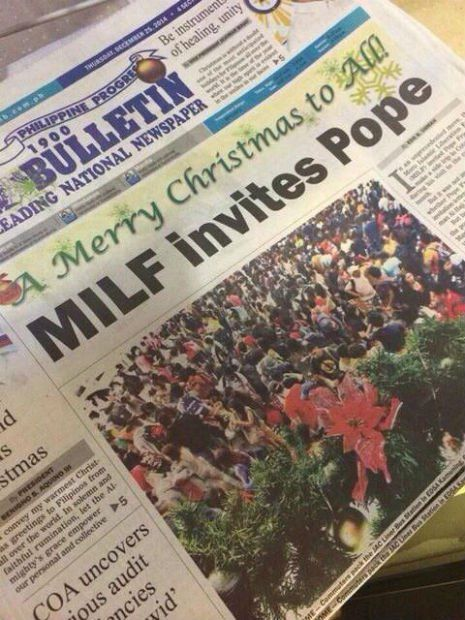 MILF invites Pope