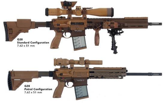 HK G28 Standard and Patrol variants