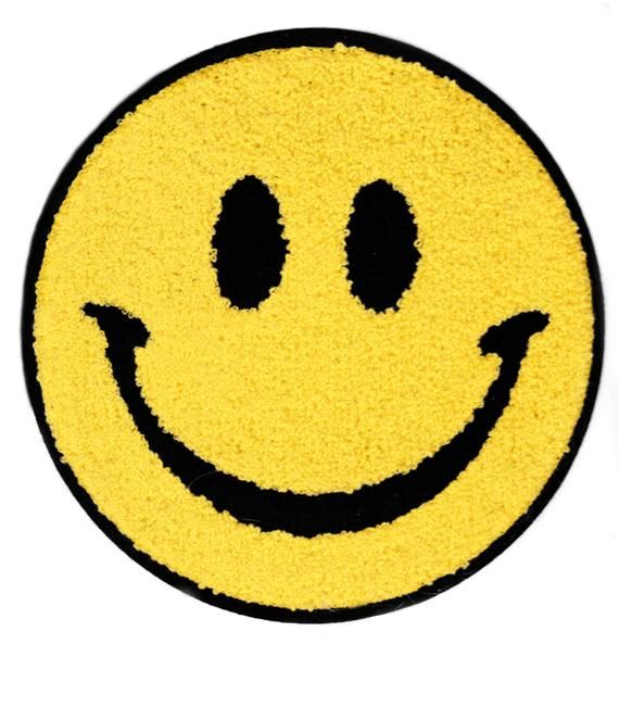 Xxl Extra Large Cute Chenille Hippie Smile Smiley Face Patch Etsy Smiley Face Smiley Face Stencils