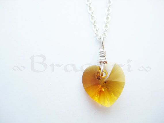 swarovski heart necklace swarovski heart pendant by Bracari, $19.99