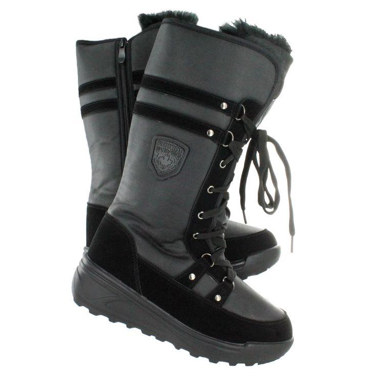 Superfit Women's SARAH black waterproof tall winter boots SARAH-BLK