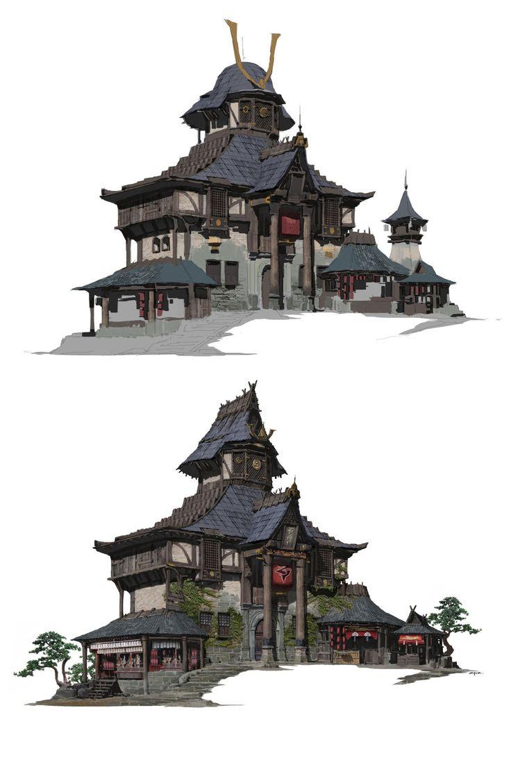 Les 549 meilleures images du tableau asian fantasy for Architecture chinoise