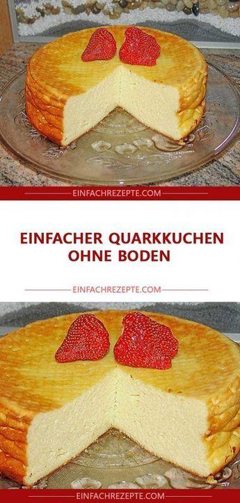 Einfacher Quarkkuchen ohne Boden 😍 😍 😍 | Quarkkuchen ohne