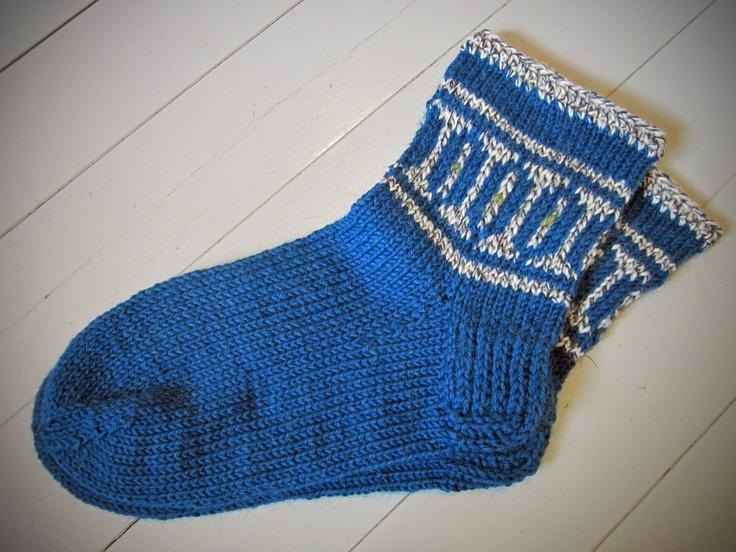 Woollen socks. Villasukat 7 veljestä-langasta.