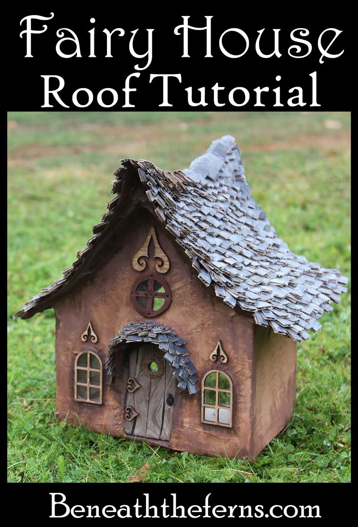 How to make a fairy house roof with shingles